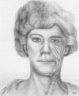 Illustration of aged woman