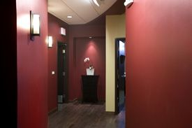 Interior Red Wall of Northwest Plastic Surgery Associates